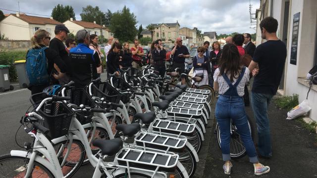 Départ du challenge vélo dans le Marais Poitevin